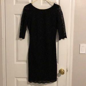 Banana republic black lace dress sz 2